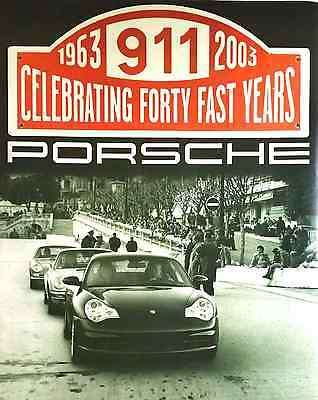 "Vintage Porche 911 poster 1963 - 2003 40 Fast Years  28"" x 22"""