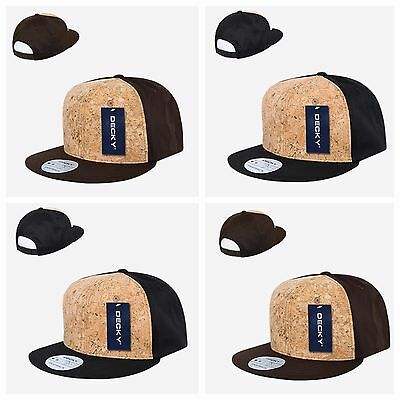 c2f19f68428 Black Brown Surfer Skater Fishing Cork Retro Flat Bill Snapback Baseball Cap  Hat
