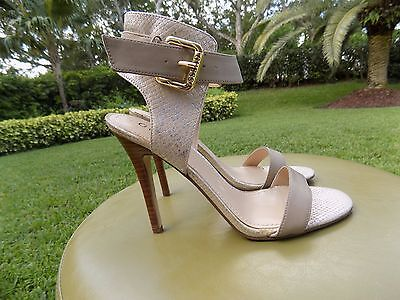 Guess Open Toe High Heel strappy sandal Nude 7.5M