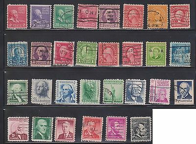 (U29-10) 1899-1970s USA mix of 91stamps valued to 50c