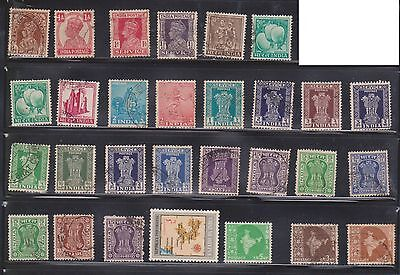 (U29-22) 1911-70 India mix of 85 stamps valued to 1R (A)