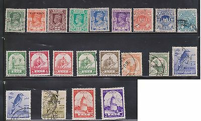 (U29-24) 1938-60 Burma mix of 37 stamps valued to K1