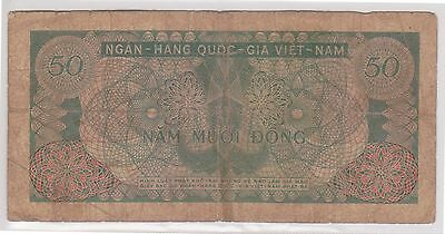 (N5-65) 1950s South Vietnam 50 Dong bank note (A)