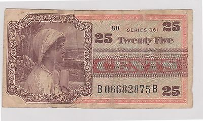 (N5-51) 1970s USA 25c military bank note (space filler) (B)