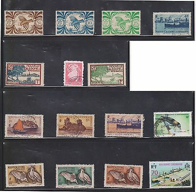 (U29-5) 1960-80 New Caledonia mix of 15stamps valued to 18F (A)