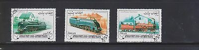 (U29-19) 1998 Afghanistan mix of 3 train stamps