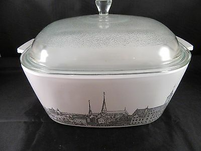 Corning Ware Renaissance Ships Harbor 4 qt Casserole Dish with Lid - Exc. Cond.