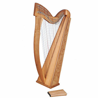 Muzikkon 27 String Trinity Harp with Levers, Celtic harp, Irish Harp with Levers