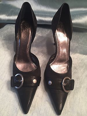 COACH ladies Black Leather Shoes Size 9B Brand New