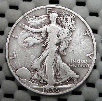 Nice (VG+) 1936-S Walking Liberty 50c..Very Collectible Coin!!