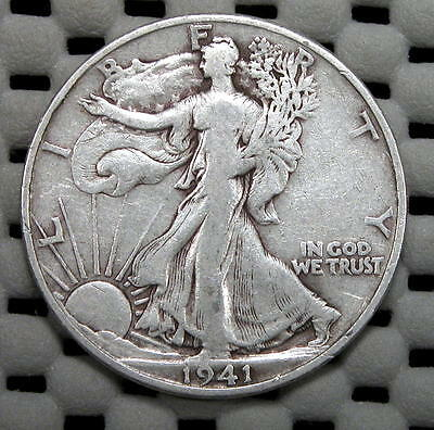 Nice (Fine) 1941-D Walking Liberty 50c..Very Collectible Coin!!