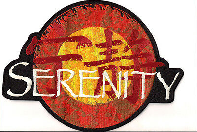 """Serenity/firefly Logo Jacket 11"""" Embroidered Patch- Free S&h  (Sepa-005)"""