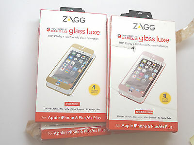 Lot of 10 New Zagg iPhone 6 Plus & 6s Plus Glass Luxe Screen Protectors *