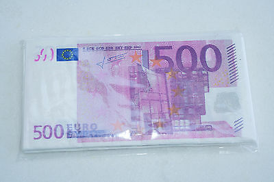10 towel paper banknotes for fun 500 euro