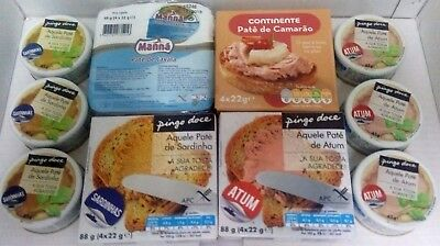 PORTUGUESE PATE TUNA, SARDINES, SHRIMP, CAVALA for toast bread (FREE SHIPPING)