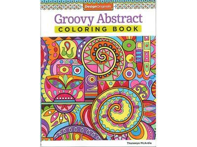 Design Originals Groovy Abstract Coloring Bk