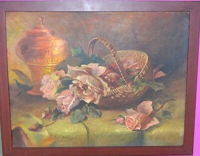 Antique oil Painting canvas Impressionist Still life painting & Modern European