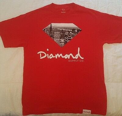 Men's Diamond Supply Co., Red T-Shirt, Size M