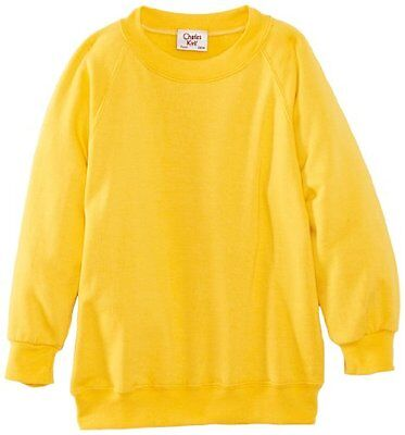 (TG. C40 IN- UK) Giallo (Yellow) Charles Kirk Coolflow - Felpa, colletto tondo,