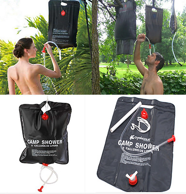 20 L/5Gallon Water Bag SOLAR Camping Shower Portable Outdoor Camping Hiking PVC