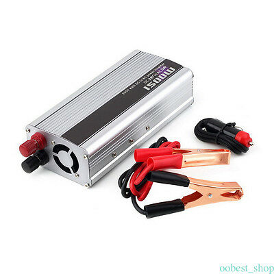1500W Solar Power Inverter DC 24V To AC 110-120V Modified Sine Wave Converter