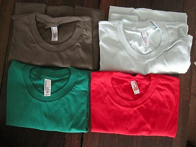 American Apparel small T-shirts, lot of 4 different colors