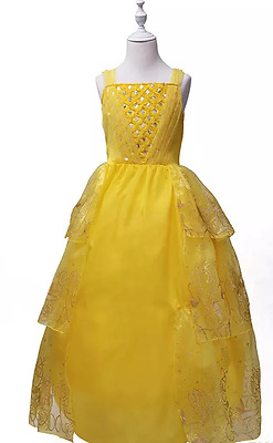 Belle Beauty and the Beast Premium costume dress yellow IN STOCK kids adult