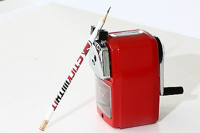 Manual Pencil Sharpener Durable Automatically Draw. Best Pencil Sharpener / RED
