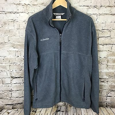 Men's Columbia Blue Full Zip Up Fleece Jacket Size L