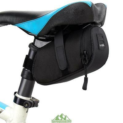 Black Rear Tail Storage Saddle Bicycle Cycling Bike Seat Pouch Waterproof Bag SG