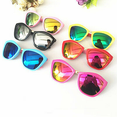 Glasses Kids Reflective Color Lens Girls Anti-UV Goggles Sunglasses Metal Boys