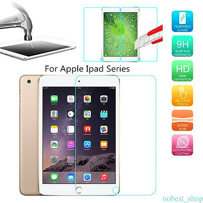 Tempered Glass Screen Protector For iPad 2 3 4 Air 2 Mini 4 3 Pro 12.9 inch 2017