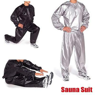 Heavy Duty Sweat Sauna Suit Gym Fitness Exercise Fat Burn Weight Loss QW