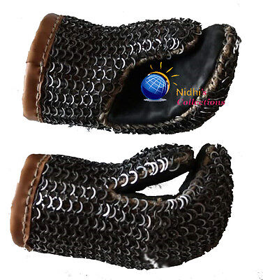 Chainmail Gloves Costumes Dress 09 Mm Mild Steel Medieval Armor  Sca/larp
