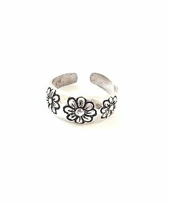 New Sterling Silver daisy flower toe ring