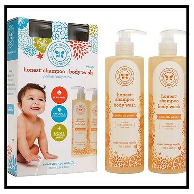 The Honest Company Shampoo and Body Wash, Sweet Orange Vanilla Scent 17oz 2-pack