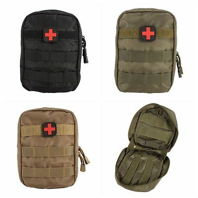 FR Tactical First Aid Médical Kit Bag Urgence Sacs Travel Carrying Pouch Outdoor