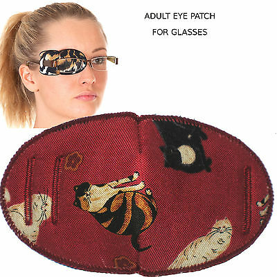 Medical Eye for Glasses, MAROON CATS, Regular Size, Soft and Washable