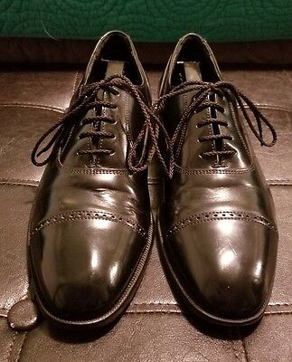 Florsheim Black Leather Cap Toe Dress Oxford Shoes Men's Sized 9 20382