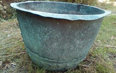 Old copper planter