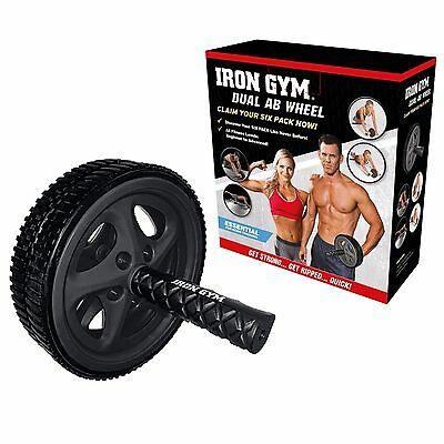 Iron Gym Dual Ab Wheel Exercise Abdominal Roller Exerciser Core Fitness Trainer