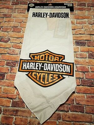 Harley-Davidson® Men's White Bandana Headwear New Motorcycle