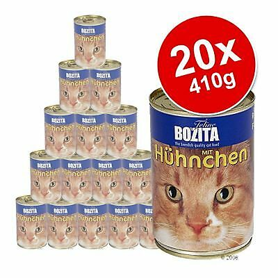 Bozita Canned Beef Wet Cat Pet Food Healthy Enrich Vitamin Saver Pack 20 x 410g
