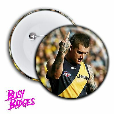 RICHMOND TIGERS - DUSTIN MARTIN Middle Finger Badges & Magnets - 2017 RARE NEW