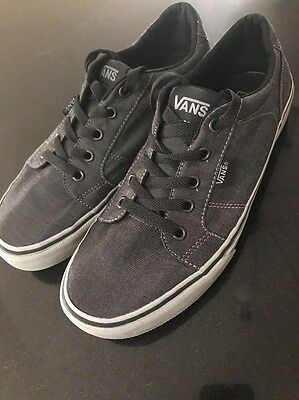Vans Off The Wall Men's Skate Shoes Sneakers Size 8 Gray Black Nice!