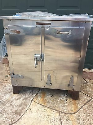 Jewett Refrigeration Antique Stainless Steel Medical Metal Ice Box Nice Hardware