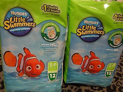 Huggies Little Swimmers Disposable Diapers Small Lot of 2 Packs, 12 Count