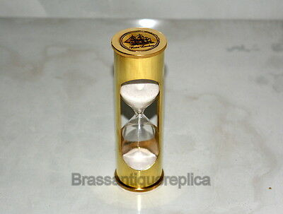 "5.5"" Brass Vintage Meritime Rose London Sand Timer Hourglass"