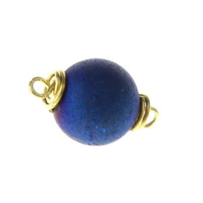 Agate Round Pendant Violet Jewelry Findings for Handcrafts Embellishments