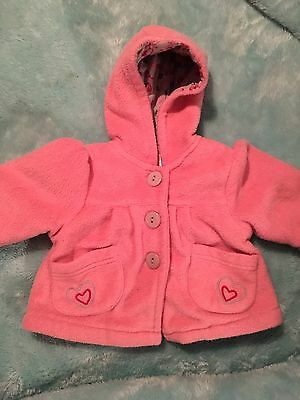 PUMPKIN PATCH Lined Hooded Pink Jacket. Size 0-3 Months.
